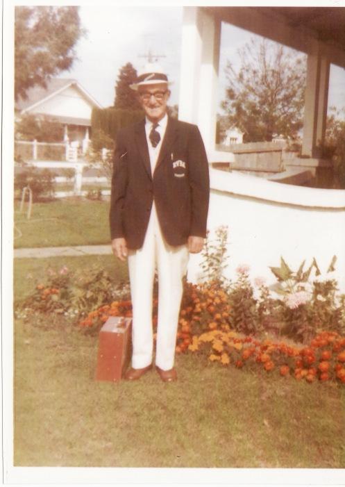 Granddad in his bowls uniform